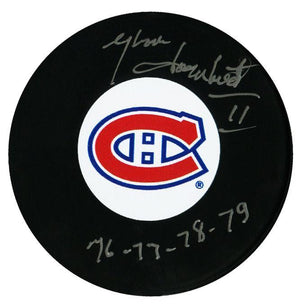 Yvon Lambert Montreal Canadiens Autographed Stanley Cup Champions Puck - CoJo Sport Collectables Inc.