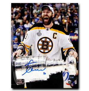 Zdeno Chara Boston Bruins Autographed Stanley Cup 8x10 Photo