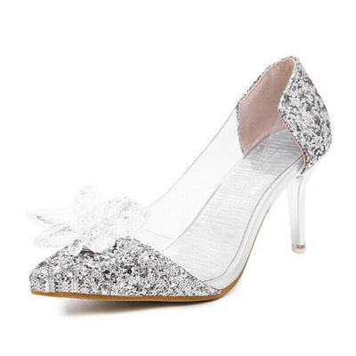 HEE GRAND Gold Silver High Heels Crystal Wedding Shoes Woman Bling Glitter Sandals Elegant Platform Pumps Women Shoes XWD3204 - Baby clothing, toys, shoes, mum & dad products