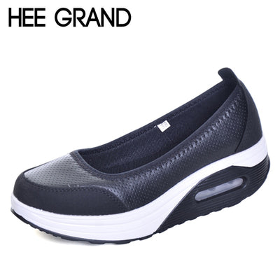 HEE GRAND Casual Creepers 2017 New Summer Platform Shoes Woman Slip On Comfortable Women Flats Shoes Size 35-41 XWC1115 - Baby clothing, toys, shoes, mum & dad products