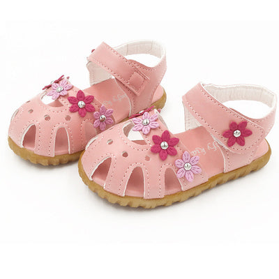 Girls shoes sandals summer 2017 Children Fashion Causal Flat Flower Soft Bottom Girls Sandal Shoes Children's shoes sandals kids - Baby clothing, toys, shoes, mum & dad products
