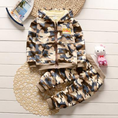 Camouflage Boys Clothing Set 2017 New Autumn Winter Kids Clothes Hooded Jacket+Pants Children's Tracksuits For Boys Sports Suit - Baby clothing, toys, shoes, mum & dad products