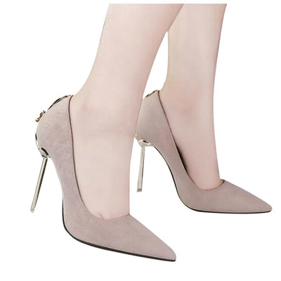 HEE GRAND Fashion 10cm Women's Pumps High Heels Black Nude High Platform Thin Heel Shallow Slip-on Wedding Shoes WXG449 - Baby clothing, toys, shoes, mum & dad products