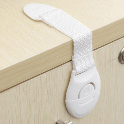 10pcs/lot Baby Kids Cabinet Safety Locks Lengthen Drawer Door Cupboard Strap Safety Locks Plastic Children Protection Care Locks - Baby clothing, toys, shoes, mum & dad products