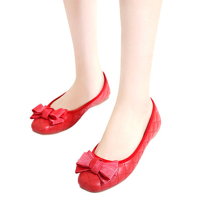 HEE GRAND Flowers Creepers Bowtie Flats Shoes Woman Square Toe Loafers Comfort Slip On Casual Women Shoes Size 35-41 XWD6022 - Baby clothing, toys, shoes, mum & dad products