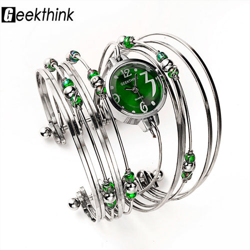 GEEKTHINK Bohemian Style Luxury Brand Quartz Watch Women Bracelet Ladies Casual Dress Steel band Clock Female Girls Trending - Baby clothing, toys, shoes, mum & dad products