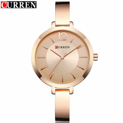 Women Watches Top Brand Luxury Full Steel Bracelet Style Jewelry Ladies Quartz Watch Curren Womens Dress Wristwatches Lady Clock