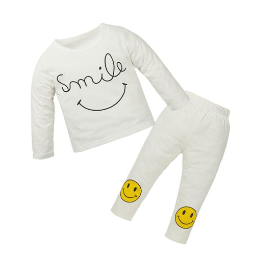 Winter Baby Long Sleeve Smile Face T-Shirt+Pants - Baby clothing, toys, shoes, mum & dad products