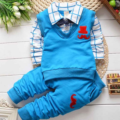 BibiCola spring autumn Baby Boy Clothes Set Children Clothing Sets Products Kids Clothes Baby Boys T-shirts+Pants 2PCS Tracksuit - Baby clothing, toys, shoes, mum & dad products