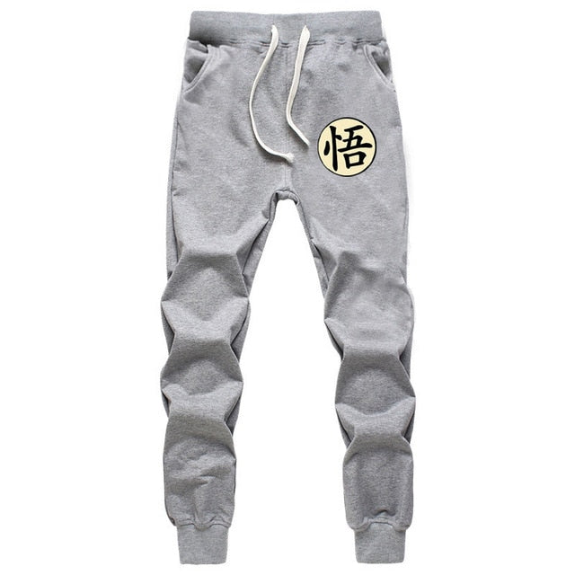 Casual Funny Print Dragon Ball Goku Mens Pants Cotton Autumn Winter Gray Men Joggers Sweatpants Plus Size Black Trouser pantalon - Baby clothing, toys, shoes, mum & dad products
