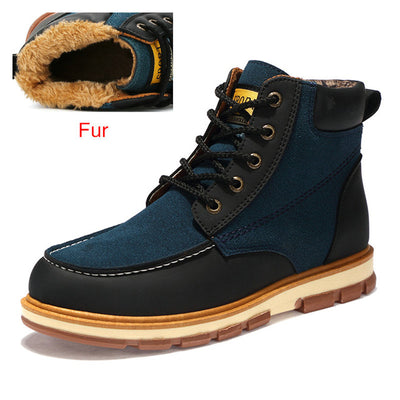 DEKABR Brand New Fashion Pu Leather Men Boots Comfortable Men Shoes Ankle Boots Short Plush Winter Warm Shoes Men Size 39~46 - Baby clothing, toys, shoes, mum & dad products