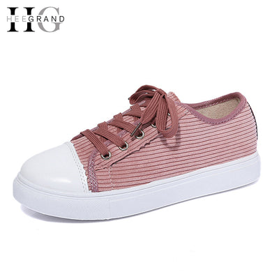 HEE GRAND Casual Canvas Shoes Woman 2017 Spring Creepers Platform Loafers Lace-Up Flats Comfort Women Flat Shoes XWD5164 - Baby clothing, toys, shoes, mum & dad products