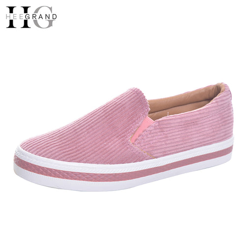 HEE GRAND Women's Flats For 2017 Spring Slip On Casual Shoes Woman Canvas Shallow Slip On Loaftes Women Vulcanize Shoes XWD5680 - Baby clothing, toys, shoes, mum & dad products