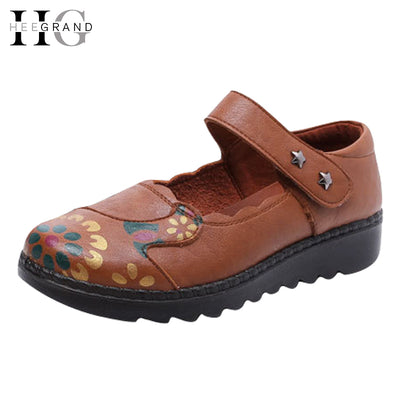 HEE GRAND Print Loafers 2017 New  Sandals Summer Platform Shoes Women Comfort Creepers Women Shoes Plus Size 35-41 XWZ3852 - Baby clothing, toys, shoes, mum & dad products