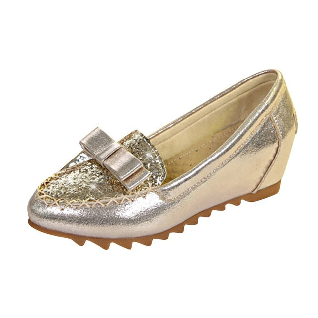 HEE GRAND Silver Glitter Creeper 2018 New Loafers Platform Shoes Woman Slip On  Flats Fashion Soft Women Shoes XWD6411 - Baby clothing, toys, shoes, mum & dad products