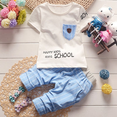 Bear Leader Kids Clothing Sets 2018 New Style Baby Clothing Sets Letter Pattern Clothes+Stripe Blue Pants 2Pc Children Clothes - Baby clothing, toys, shoes, mum & dad products