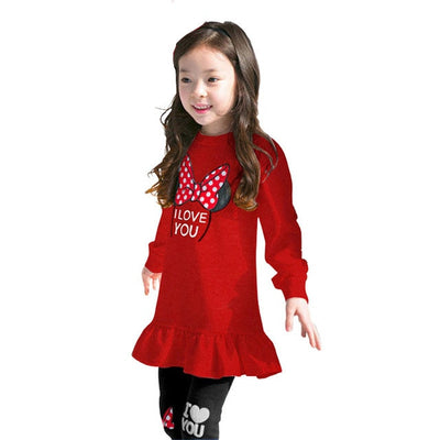 2018 Girls Clothes Sets Spring autumn  Costume kids Clothing suit Two pieces Minnie Long Sleeve dress toddler Children clothing - Baby clothing, toys, shoes, mum & dad products