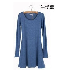 Fashion Clothes Vestidos Women Dress 2018 Spring Autumn Winter Dress Female 100% Cotton O-Neck Long Sleeve Dress Woolen Dresses - Baby clothing, toys, shoes, mum & dad products