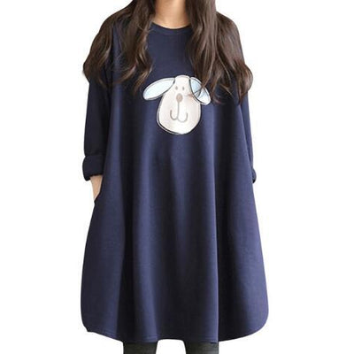 2018 Autumn Winter Shirts Loose Maternity Dress Cotton Long Sleeve Soft Blouse Vestidos Pregnancy Clothes For Pregnant  Women - Baby clothing, toys, shoes, mum & dad products