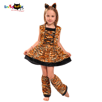 Eraspooky Carnaval Costumes For Kids Cute Head band Children Cosplay  Lovely Halloween Costume Tiger Costume Dress For Girls - Baby clothing, toys, shoes, mum & dad products