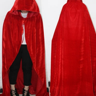 Adult Witch Long Purple Green Red Black Cloaks Hood Cape halloween costumes for women vampire Men gothic scary Fancy cosplay - Baby clothing, toys, shoes, mum & dad products