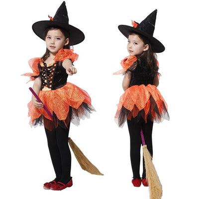 Umorden Halloween Costumes for Children Kids Witch Costume Fancy Fantasia Infant Witch Cosplay for Girl Girls - Baby clothing, toys, shoes, mum & dad products