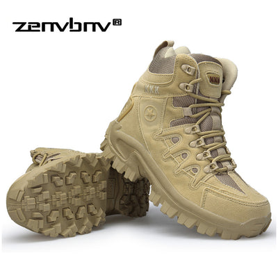 Winter/Autumn Men High Quality Brand Military Leather Boots Special Force Tactical Desert Combat Boats Outdoor Shoes Snow Boots - Baby clothing, toys, shoes, mum & dad products