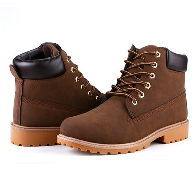ROXDIA Faux Suede Leather Men Boots Spring Autumn And Winter Man Shoes Ankle Boot Men's Snow Shoe Work Plus Size 39-46 RXM560 - Baby clothing, toys, shoes, mum & dad products