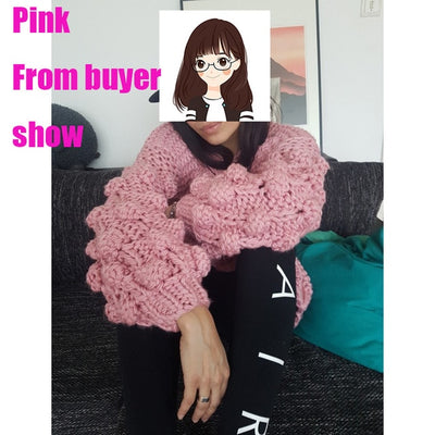 Try Everything Hand Knitted Cardigan Women 2018 Fashion Winter Coat Long Sleeve Cardigan Sweater Women Winter Tops Clothes Beige - Baby clothing, toys, shoes, mum & dad products