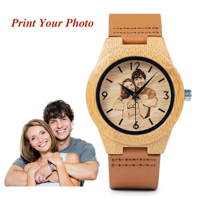 BOBO BIRD Creative Gift Wood Watch Men Women Photos UV Printing on Wooden Watch OEM Customized Gift - Baby clothing, toys, shoes, mum & dad products