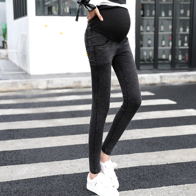 Elastic Waist Maternity Jeans Pants For Pregnancy Clothes For Pregnant Women Legging Maternity Spring / Autumn long pencil pants - Baby clothing, toys, shoes, mum & dad products
