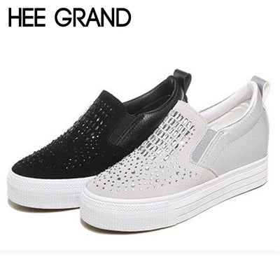 HEE GRAND 2018 New Women Fashion Flats Bling Vamp Loafers Summer&Autumn Women Sneakers Slip-on Causal Mujer Shoes XWD6776 - Baby clothing, toys, shoes, mum & dad products