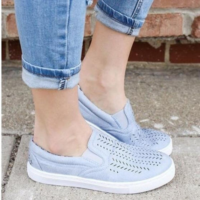 HEE GRAND Women Breathing Flats 2018 New Autumn Fashion Flats Women Causal Shoes Sneakers Slip-on Women Shoes XWD6523 - Baby clothing, toys, shoes, mum & dad products