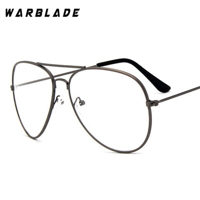 WarBLade Band Glasses Alloy Gold Frame Glasses Classic Optics Eyeglasses Transparent Clear Lens Women Men Fake Glasses Female - Baby clothing, toys, shoes, mum & dad products