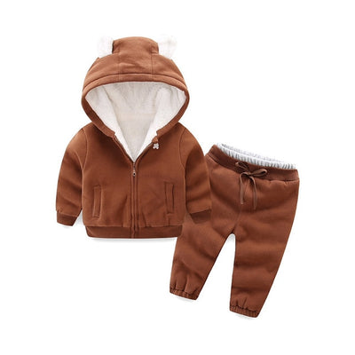 Girls autumn winter clothing set children warm coat+pants 2pcs girl tracksuits costume casual kids sport suits for girls - Baby clothing, toys, shoes, mum & dad products