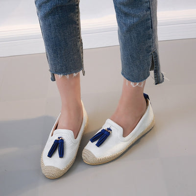 HEE GRAND Women Flats 2019 Platform Loafers Slip On Casual Weave Straw Shoes Woman Comfort Fisher Shoes Woman Size 35-39 XWD6828 - Baby clothing, toys, shoes, mum & dad products