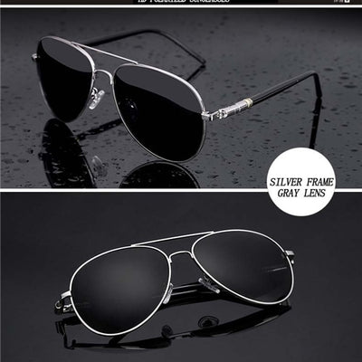 Aviation Metail Frame Quality Oversized Spring Leg Alloy Men Sunglasses Polarized Brand Design Pilot Male Sun Glasses Driving - Baby clothing, toys, shoes, mum & dad products