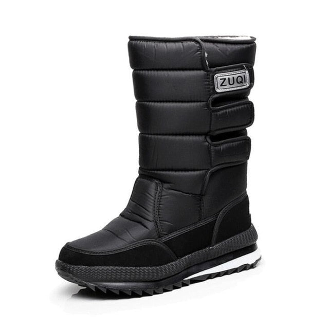 2018 Men Boots platform snow boots for men thick plush waterproof slip-resistant winter shoes Plus size 36 - 47 - Baby clothing, toys, shoes, mum & dad products