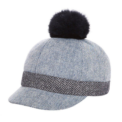 New Thicken Velvet Autumn Winter Baby Hat Children Warm Ear Caps Faux Rabbit Fur Pompom Ball Baseball Cap For Boys Girls - Baby clothing, toys, shoes, mum & dad products