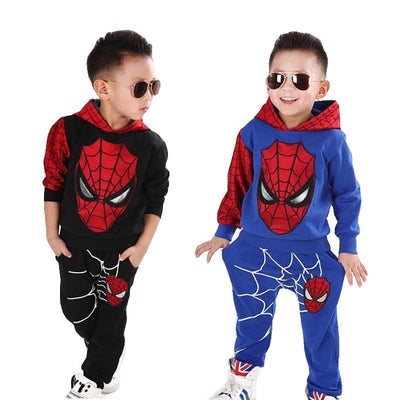 New Baby Boys Spring Autumn Spiderman Sports suit 2 pieces set Tracksuits Kids Clothing sets 100-140cm Casual clothes Coat+Pant - Baby clothing, toys, shoes, mum & dad products