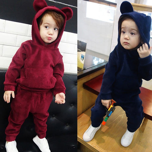 KEAIYOUHUO Children Clothing Boys Sets 2018 Winter Kids Clothes Baby Boy Girl Clothes Sets Long Sleeve Cotton Girls Sport Suits - Baby clothing, toys, shoes, mum & dad products