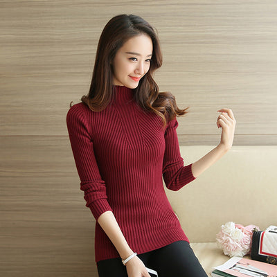 Turtleneck Sweater Women Fashion 2018 Autumn Winter Black Tops Women Knitted Pullovers Long Sleeve Jumper Pull Femme Clothing - Baby clothing, toys, shoes, mum & dad products