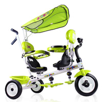 Twins rotate seat foam tyre trolley tricycle