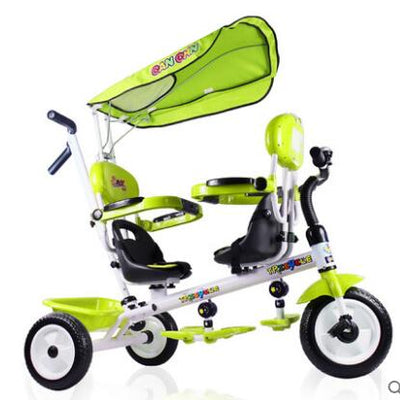 Twins rotate seat foam tyre trolley tricycle - Baby clothing, toys, shoes, mum & dad products
