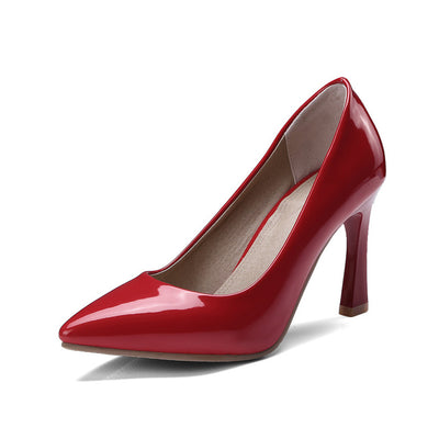 ASUMER black red fashion spring autumn pointed toe shoes woman shallow elegant wedding shoes women high heels shoes size 46 - Baby clothing, toys, shoes, mum & dad products
