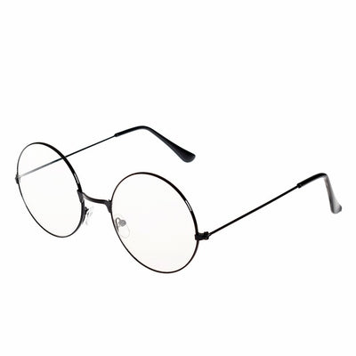 2018 New man Woman Retro Large Round Glasses Transparent Metal eyeglass frame Black Silver Gold spectacles Eyeglasses 3 Colors - Baby clothing, toys, shoes, mum & dad products