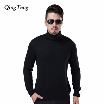 Pullover Men Cashmere Wool Knitted Sweater Male Turtleneck Black Jersey Winter Warm Plus Size Mens Jumper Dropshipping 2018 - Baby clothing, toys, shoes, mum & dad products