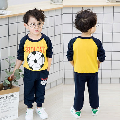 2017 Baby Boy Clothes winter Cartoon Boy Clothing Set Long sleeves Leisure boys t shirt+ Pant 2pcs kids clothes set - Baby clothing, toys, shoes, mum & dad products