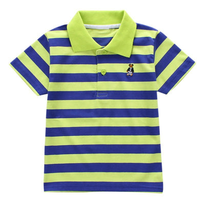 Colorful Striped T-shirt Baby Boy Clothes Fashion Rainbow Cartoon T-shirt For Boy Baby Clothes Summer Sports Boy T-shirt - Baby clothing, toys, shoes, mum & dad products