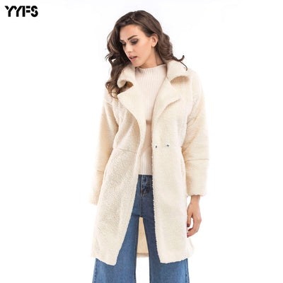 Cashmere Long-sleeved Long Coat Coat 2018 Autumn And Winter Large Size Women's Clothing - Baby clothing, toys, shoes, mum & dad products